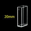 QF66, 20mm Lightpath Dual Path Lengths Quartz Fluorometer Cuvettes, 5 Clear Windows including Bottom