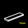 OP16, 1mm Short Path Length Optical Glass Cuvettes, 2 Clear Windows, Open Top