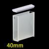 OP18, 40mm Standard Optical Glass Cuvettes, 2 Clear Windows, Open Top