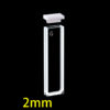 OP19, 2mm Short Path Length Optical Glass Cuvettes, 2 Clear Windows, Open Top