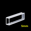 OP21, 5mm Short Path Length Optical Glass Cuvettes, 2 Clear Windows, Open Top