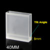 QC1701, 5mm Narrow Width, 40mm Path Length, Tilt Angle Bottom Quartz Cuvette, Request Quote Before Ordering