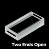 QC1901, Both Ends Open Quartz Cuvette, 2 Clear Windows, Request Quote Before Ordering
