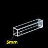 QC2001, 5x5mm Path Length Fluorescence Quartz Cuvette, 875uL, Open Top