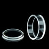 QC2101, φ17x6mm Cylindrical / Round Quartz Cell and Cover, 700uL, All Sides Clear
