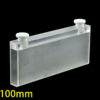 QC2701, 100mm Long Path Length Cuvette with Stoppers, 35mL, 2 Clear Windows