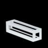 QC2901, 5x5mm Path Length Fluorescence Quartz Cuvette, 875uL