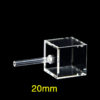 QC3001, 5 Clear Window Quartz Cuvette with Single Tube, 20mm Path, Outer Size: 24x24x53mm