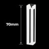QC31, 1/2 mm Narrow Width Cuvette with 70mm Height, 4 Clear Windows