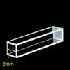 QC3801, 8x8 mm Path Length Fluorescence Quartz Cuvette, Customized, Open Top