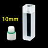 QF15, 10mm 3.5mL Standard Quartz Inner Threaded Cuvettes, for Spectrophotometer Use, Flat Screw