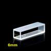 QF40, 6mm Lightpath Cuvette Cell for Automatic Biochemistry Analyzer, 0.54mL, 30x6.3x8 mm, Quartz