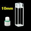 QF70, 10mm 3.5mL Standard Quartz Inner Threaded Cuvettes, for Fluorometer Use, Flat Screw