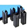 QM21, Black Semi Micro Cuvettes, PTFE Lids or Stoppers, Volume: 0.35/0.7/1.05/1.4/1.75mL, Quartz