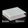 QM32, 50mm Lightpath 3mm Narrow Width Cuvettes, 2 Clear Windows, Volume 5.25mL, Quartz Material