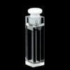 QM41, Stopper Cover Semi Micro Fluorescence Cuvettes, 4 Clear Windows, Volume: 0.35/ 0.7/ 1.05/ 1.4mL, Quartz Material, Glued