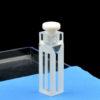 QM42, Stopper Cover Semi Micro Fluorescence Cuvettes, 4 Clear Windows, Volume: 0.35/ 0.7/ 1.05/ 1.4/ 1.75mL, Quartz Material, Powder Fused