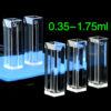 QM50, Semi Micro Fluorescence Cuvettes, 4 Clear Windows, Volume: 0.35/ 0.7/ 1.05/ 1.4/ 1.75mL, Quartz Material, All Narrow Cuvettes