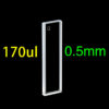 QS31, 0.5 mm 175uL Ultra Short Path Length Quartz Cuvettes