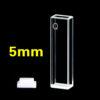QS34, 5mm 1.75mL Dual Path Lengths Quartz Fluorometer Cuvettes