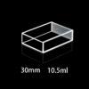 QS38, 30mm 10.5mL Dual Path Lengths Quartz Fluorometer Cuvettes