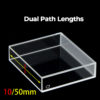 QS39, 50mm 17.5mL Dual Path Lengths Quartz Fluorometer Cuvettes