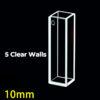 QS42, 10mm Path Length, 3.5mL, 5 Polihsed Windows Quartz Cuvette